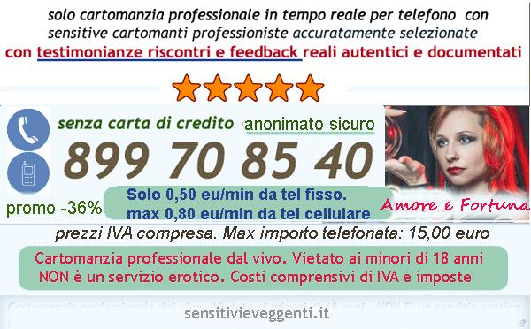 cartomanzia al telefono senza carta credito